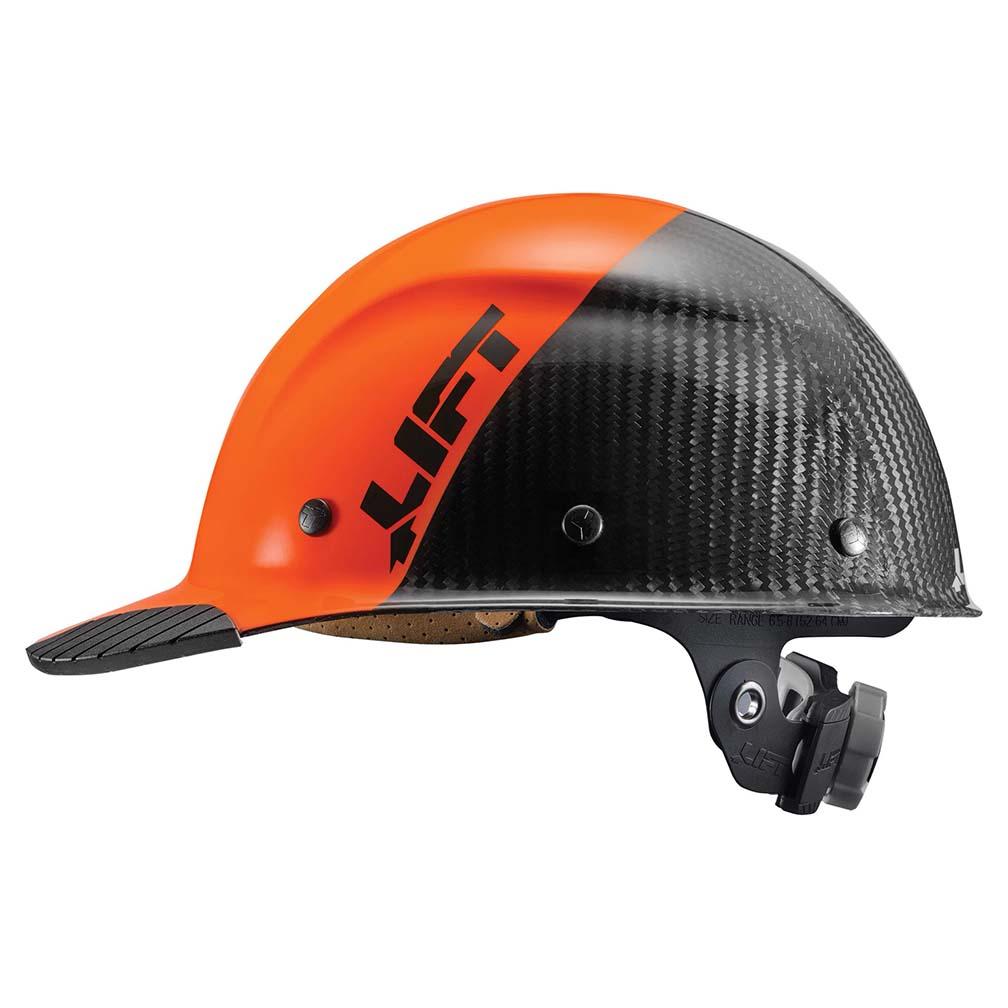 Lift Safety DAX Carbon Fiber Cap Brim 50-50 Orange/Black