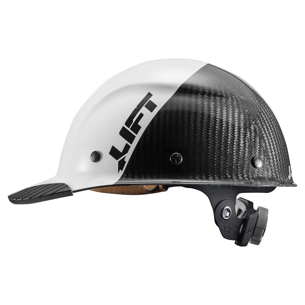 Lift Safety DAX Carbon Fiber Cap Brim 50-50 White Black