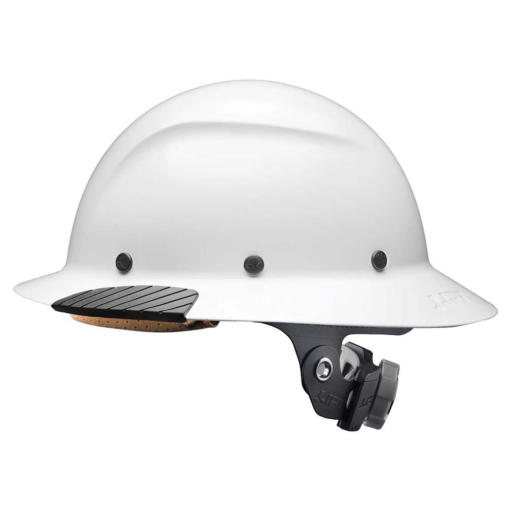 Lift Safety DAX Fiber Resin Full Brim Gloss White