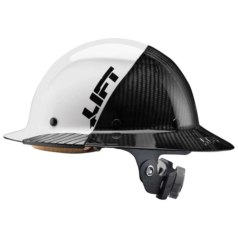Lift Safety DAX Carbon Fiber Full Brim 50-50 White/Black