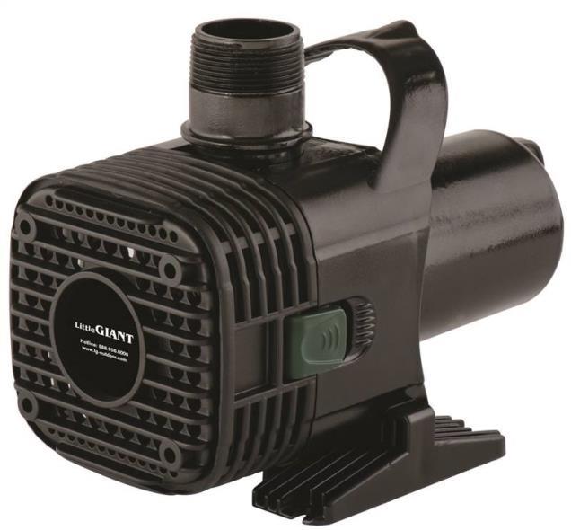 Little Giant Pump 566725 Pond Pumps, Versatile, 2700 GPH