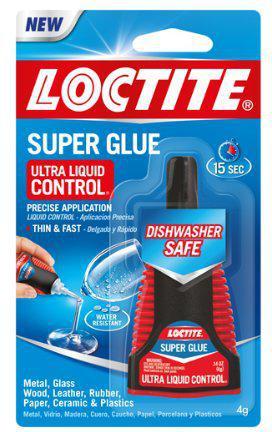 Liquid Super Glue, Clear, 0.14oz, 1/ea