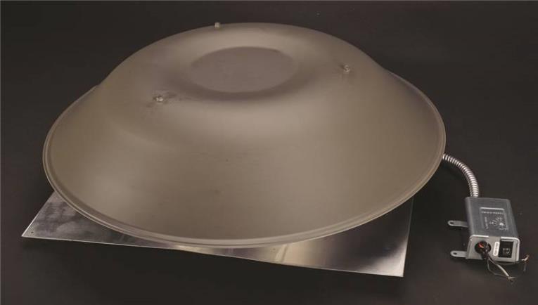 Lomancool 2000 2000WB Standard Roof Mount Power Ventilator, Aluminum, Weathered Bronze