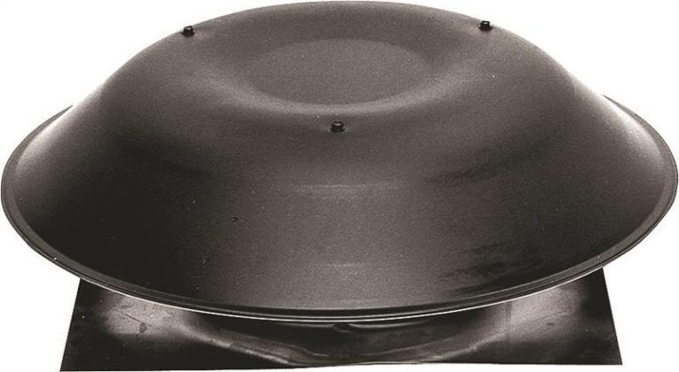 Lomanco 135B Pan Style Static Roof Ventilator, 14 in, Aluminum, Black