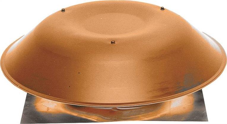 Lomanco 135BR Pan Style Static Roof Ventilator, 14 in, Aluminum, Brown