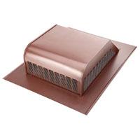 Lomanco 750-GSBR Slant Back Static Roof Ventilator, 8 in, Heavy Duty Steel, Galvanized, Brown