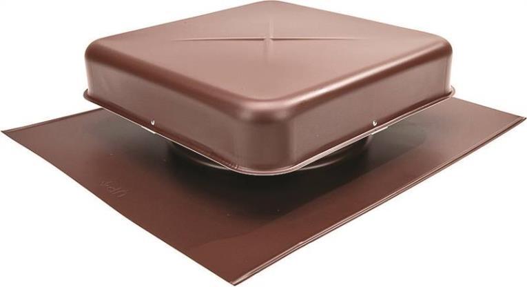 Lomanco 600 Pan Style Static Roof Ventilator, 9-1/2 in, Aluminum, Brown