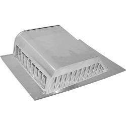 Lomanco 730 Slant Back Static Roof Ventilator, 6-1/4 in, Aluminum