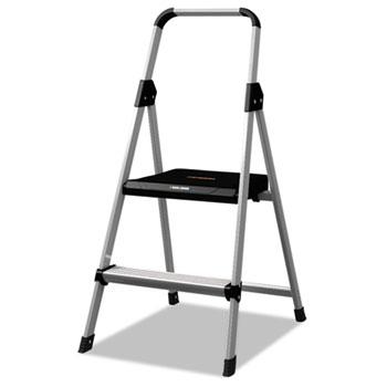 Aluminum Step Stool Ladder, 225 lb Capacity, 18 1/2w x 23 1/2 spread x 38 1/2h