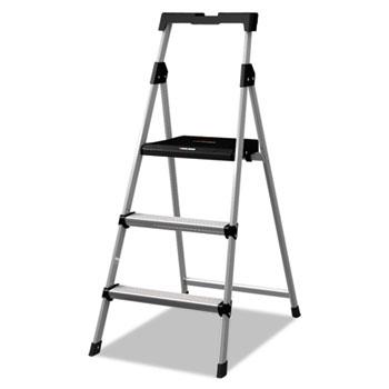 Aluminum Step Stool Ladder, 225 lb Capacity, 20w x 31 spread x 47h