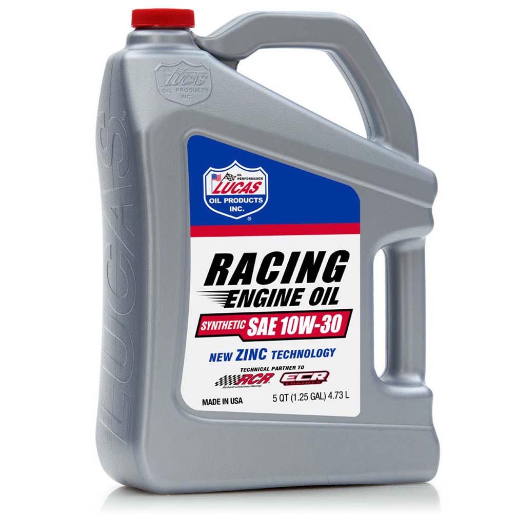 Lucas Oil Synthetic SAE 10W-30 Racing Motor Oil 5 Quart