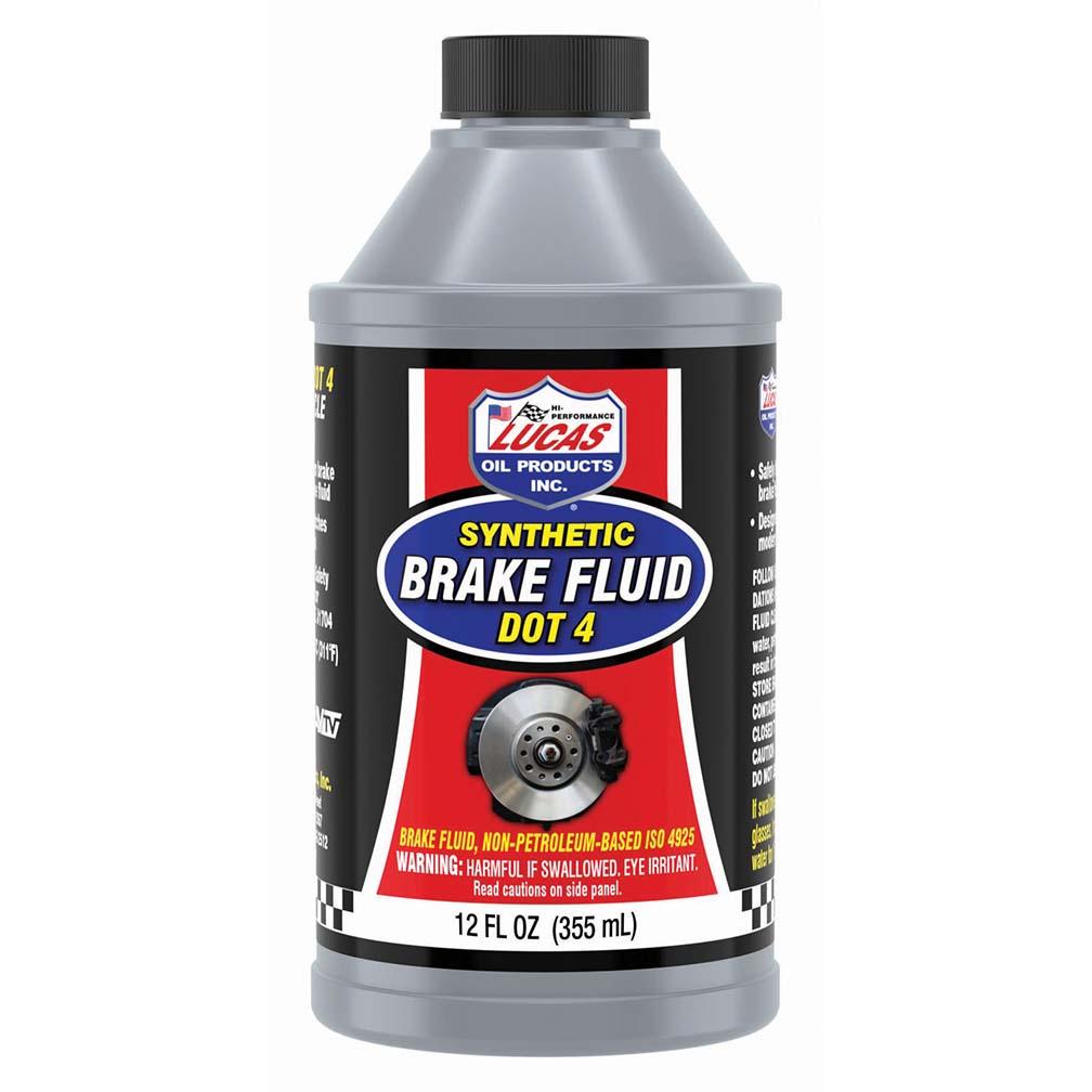 Lucas Oil DOT 4 Brake Fluid 12 Ounce