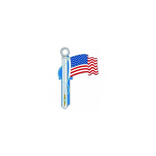 KEY BLANK AMERICAN FLAG KW
