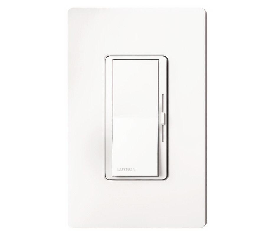 Lutron Diva CL Series Slide Dimmer, 120 VAC, 600 W, 1 P, 3 Way, White