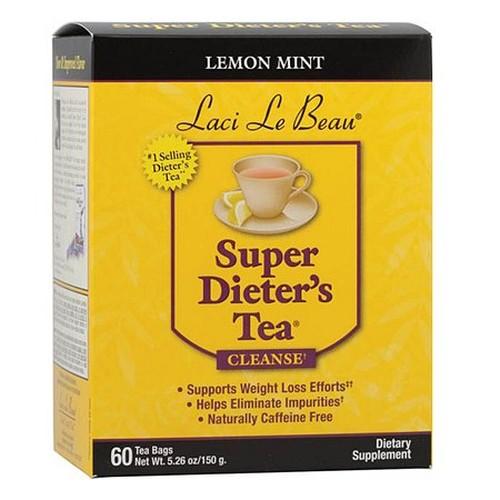 Laci Le Beau Super Dieter's Tea Lemon Mint (1x60 Tea Bags)