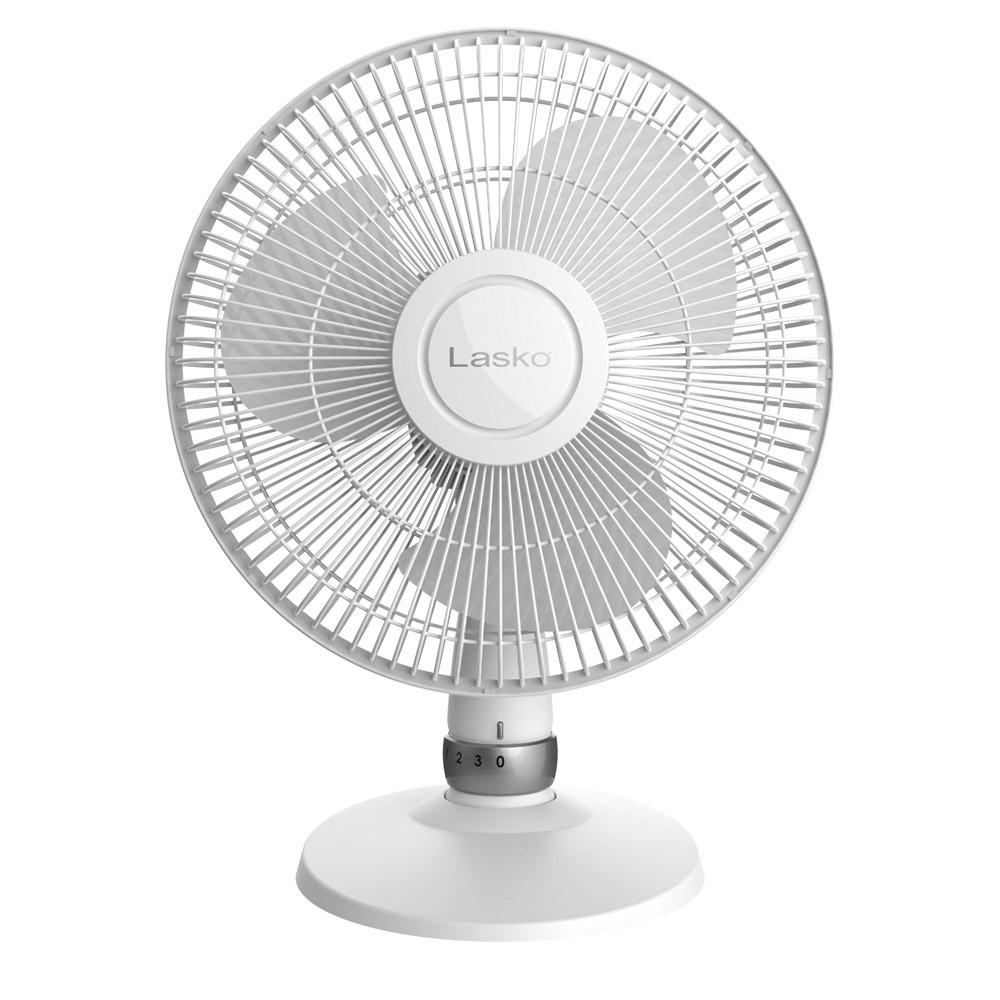 "12"" Oscillating Table Fan Wht"