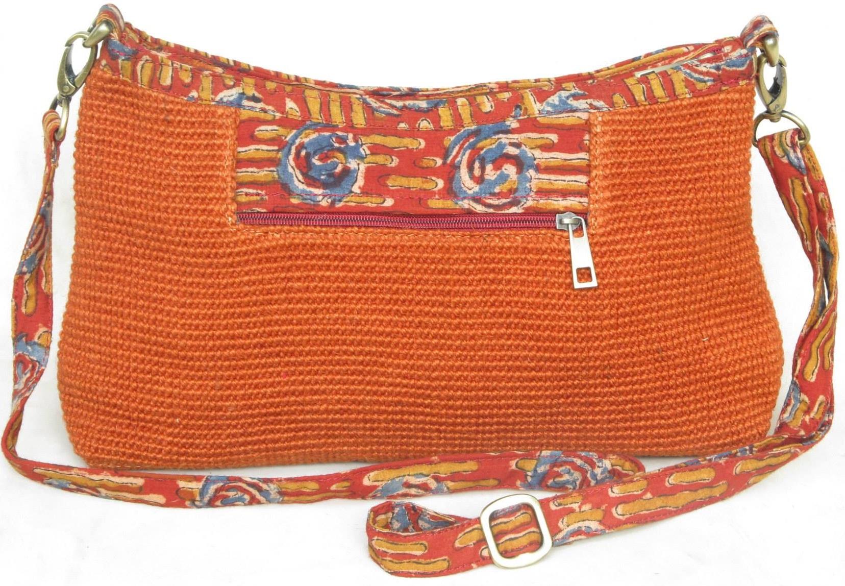 Leaf & Fiber 'Diya' Eco-Friendly Satchel Bag - Orange