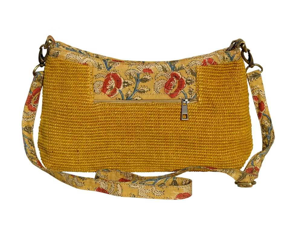 Leaf & Fiber 'Diya' Eco-Friendly Satchel Bag - Yellow
