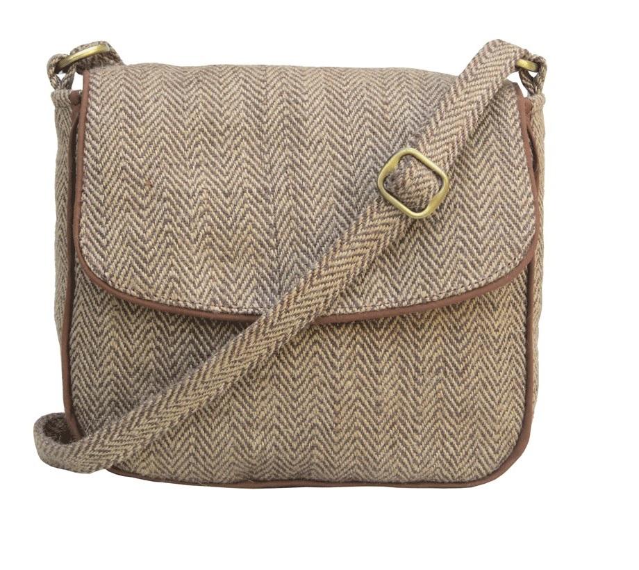 Leaf & Fiber 'Solara' Eco-Friendly Messenger Bag - Brown Stripes