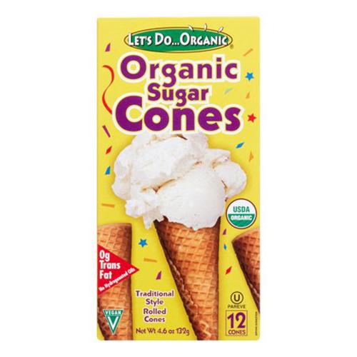 Let's DoOrgainc Sugar Cones (12x46OZ )