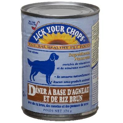 Lick Your Chops Lamb & Rice Dog Food (12x132OZ )