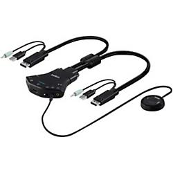 Secure 2 port Flip HD KVM
