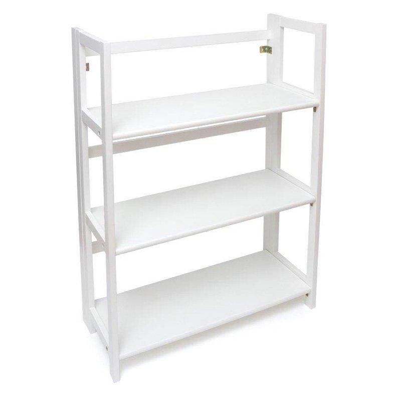 3Shelf Folding Bookcase White