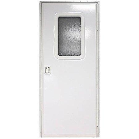 24IN X 68IN RH SQUARE ENTRY DOOR, POLAR WHITE