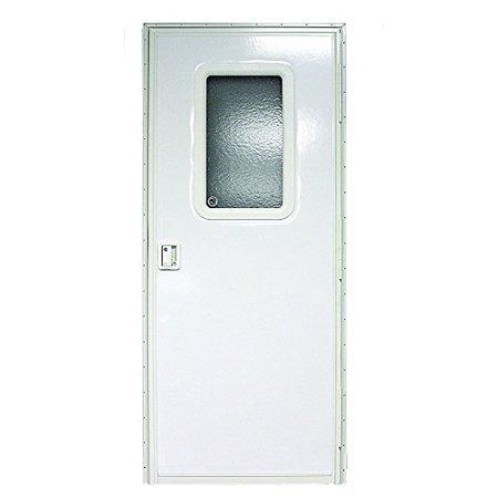 30IN X 72IN RH SQUARE ENTRY DOOR, POLAR WHITE