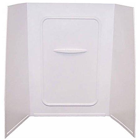 24IN X 36IN X 59IN BATHTUB & SHOWER PAN SURROUND; 1-PIECE DESIGN; PICTURE FRAME FINISH - WHITE
