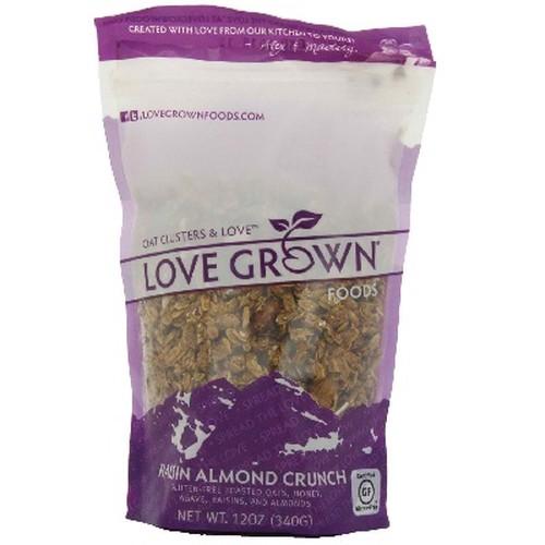 Love Grown Foods Raisin Almond Crunch Granola (6x12OZ )