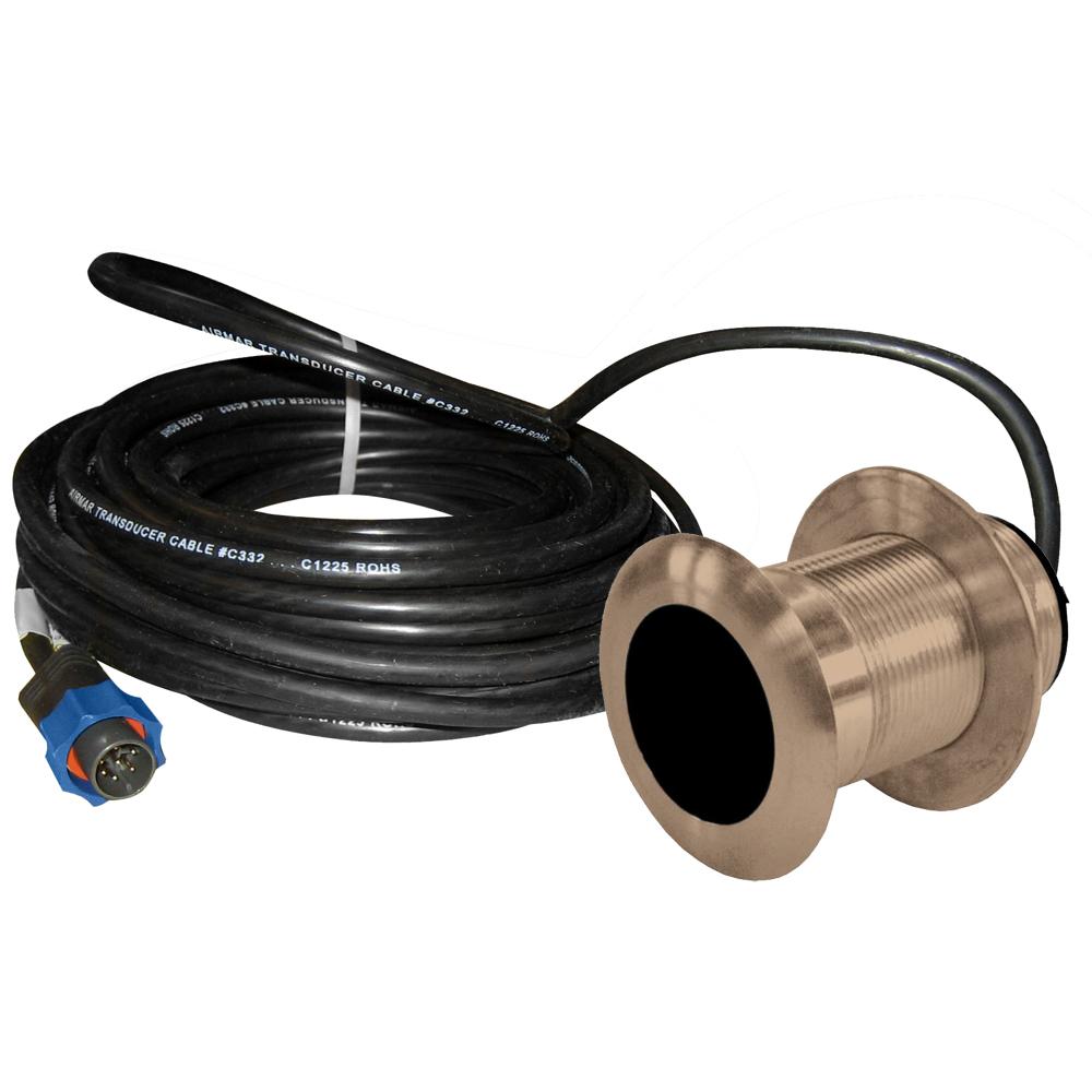 Lowrance B117 0° 50/200kHz Thru-Hull Depth/Temp w/Blue Connector - 600W
