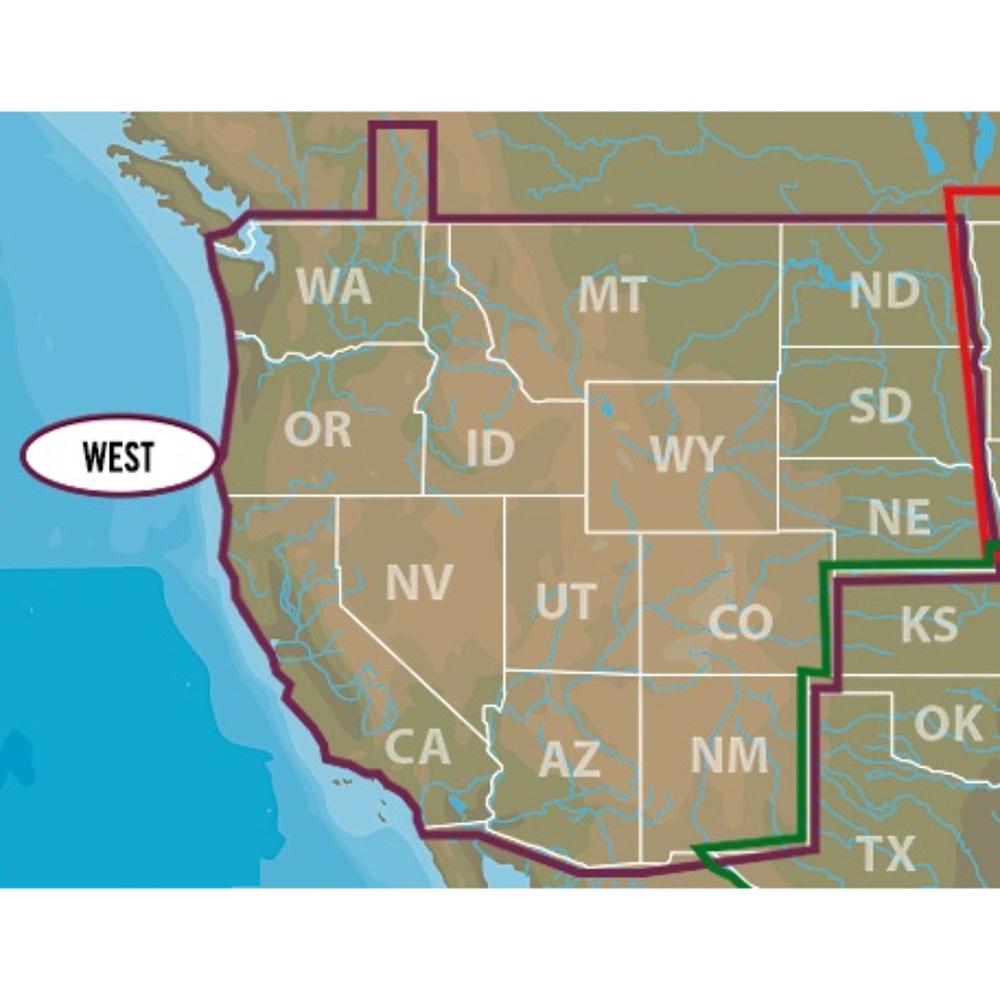 Lowrance C-MAP US Lakes West Max-N+ M-NA-Y071-MS