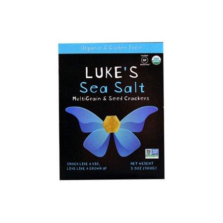 Luke's Organic Mulitgrain & Seed Crackers Sea Salt (6x35 OZ)