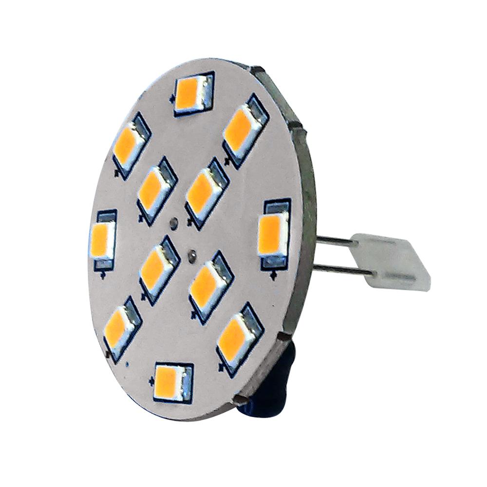 Lunasea G4 10 Back Pin LED Light Bulb - 12VAC or 10-30VDC/2W/140 Lumens - Warm White