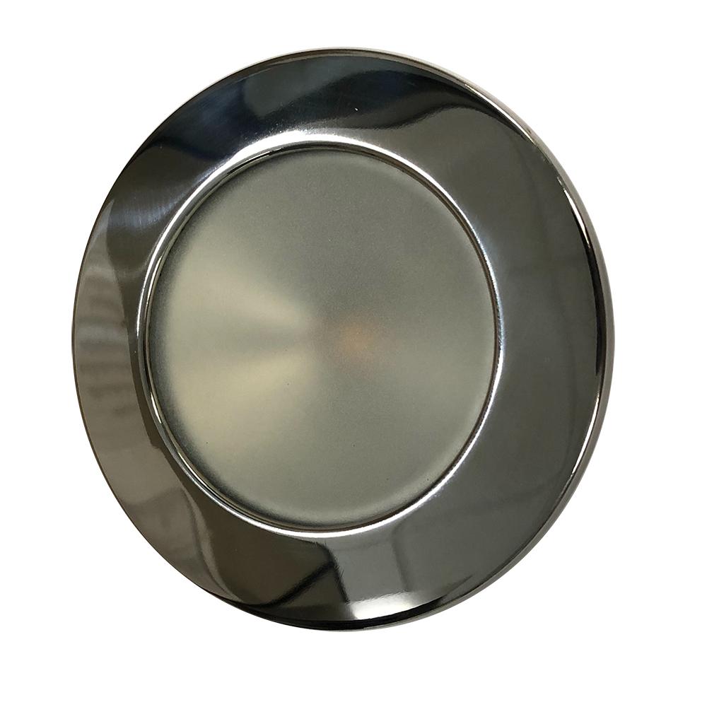 "Lunasea Gen 3 Indoor/Outdoor Recessed 3.5"" LED Light - 2700K 85 CRI Dimmable COB LED - Warm White/Polished SS Bezel"