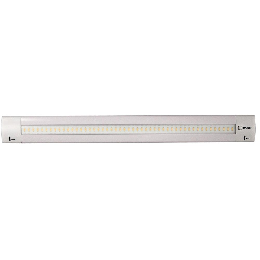 "Lunasea 12"" Adjustable Angle LED Light Bar - w/Push Button Switch - 12VDC - Warm White"