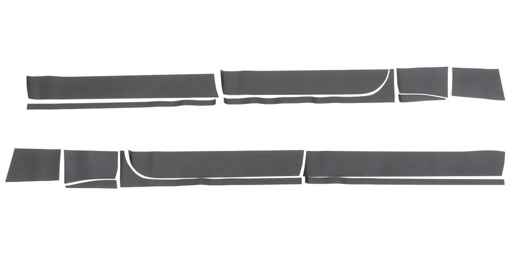 14-16 SIERRA 1500 CREW CAB, 5.5FT BED RHINO LININGS ROCKER GUARDS-BLACK TEXTURED