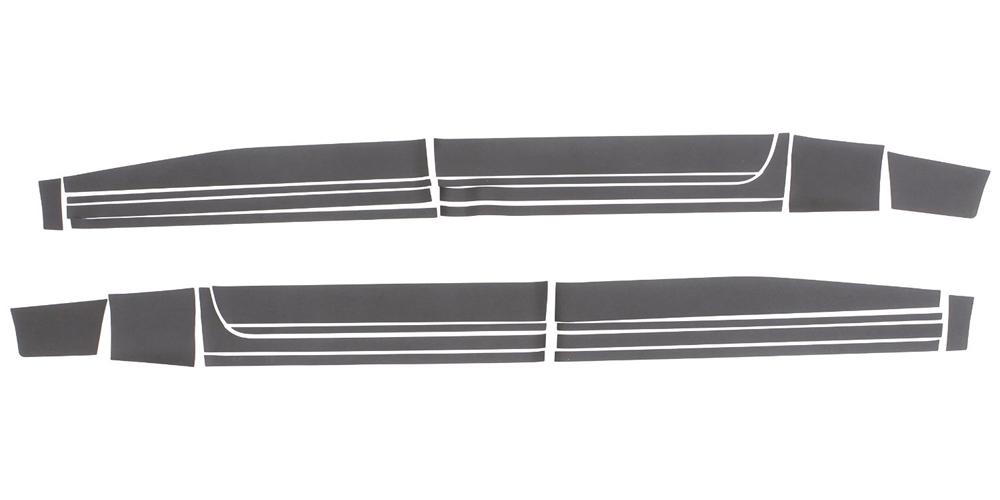 09-16 RAM 1500 CREW CAB 5.5FT BED RHINO LININGS ROCKER GUARDS-BLACK TEXTURED