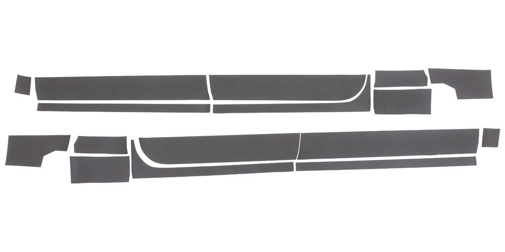 14-16 SILVERADO 1500 CREW CAB, 5.5FT BED RHINO LININGS ROCKER GUARDS-BLACK TEXTURED