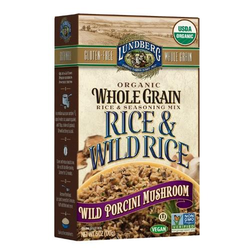 Lundberg Organic Whole Grain Rice & Wild Rice Wild Porcini Mushroom (6x6 OZ)