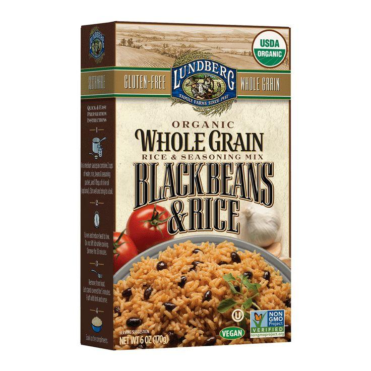 Lundberg Organic Whole Grain Black Beans Rice (6x6 OZ)