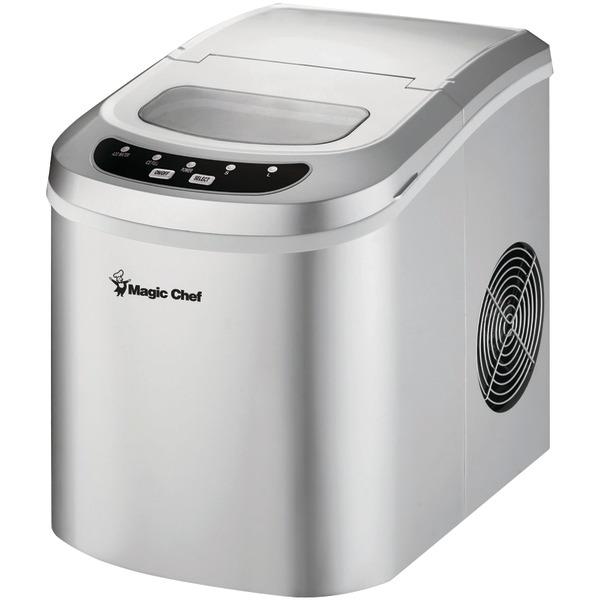 Magic Chef MCIM22SV 27lb-Capacity Portable Ice Maker