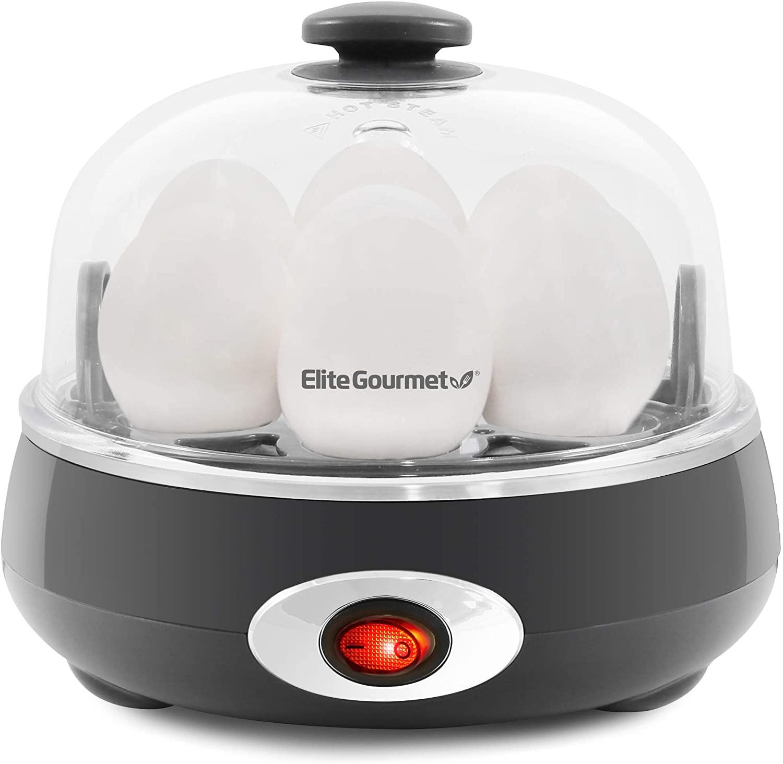 ELITE EGC007CHC CHARACOAL GREY EASY EGG COOKER