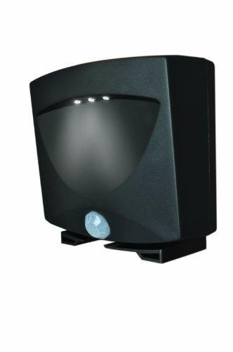 MAXSA INNOVATIONS 40342 BATTERY-POWERED MOTION-ACTIVATED OUTDOOR NIGHT LIGHT (BLACK/ DARK BRONZE)