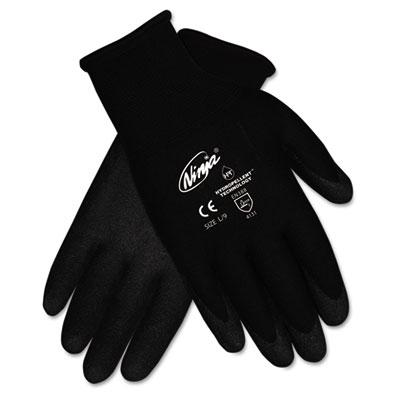Ninja HPT PVC coated Nylon Gloves, Small, Black, Pair