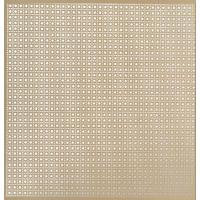 M-D 57125 Lincane Metal Sheet, 0.02 in T, 2 ft L x 3 ft W, Perforated Aluminum