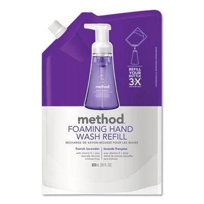 Foaming Hand Wash Refill, French Lavender, 28 oz, 6/Carton
