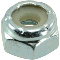 Midwest 03648 Hex Locknut, NO 10-24, Nylon Insert, Zinc Plated