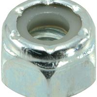 Midwest 03649 Hex Locknut, 1/4-20, Nylon Insert, Zinc Plated